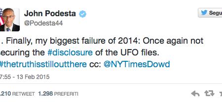 Le presunte dichiarazioni sui file UFO di Podesta