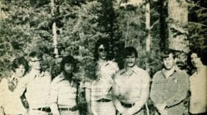 Walton con i colleghi di lavoro