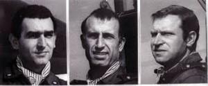 da sin. Giorgio Alessio, Ivo Nutarelli e Mario Naldini