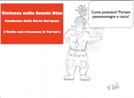 Scuola Diaz – Italia non riconosce la Tortura