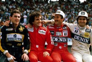 Senna, Prost, Mansell e Piquet