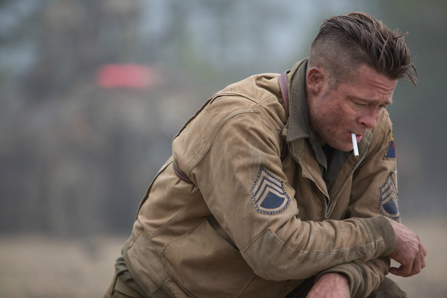 Wardaddy (Brad Pitt) in Columbia Pictures' FURY.
