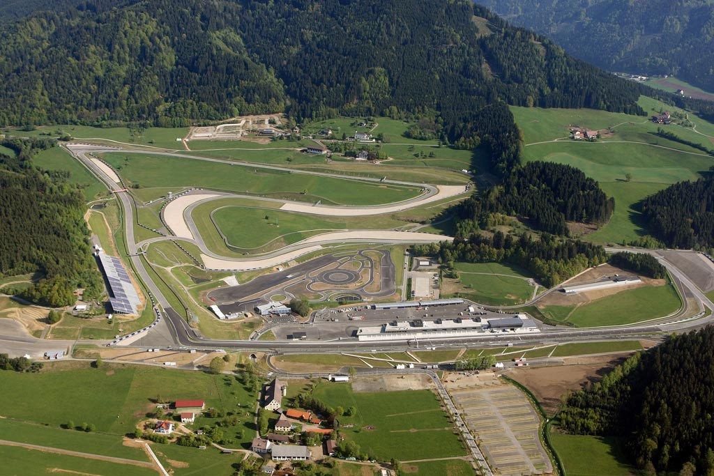 GEPA-06051134010 - SPIELBERG,AUSTRIA,06.MAY.11 - MOTORSPORT - Red Bull Ring, sightseeing flight, photo shoot. Image shows the race track. Keywords: aerial view. Photo: GEPA pictures/ Markus Oberlaender - For editorial use only. Image is free of charge.