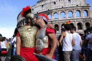 Tassisti Sfilano al Gay Pride di Roma
