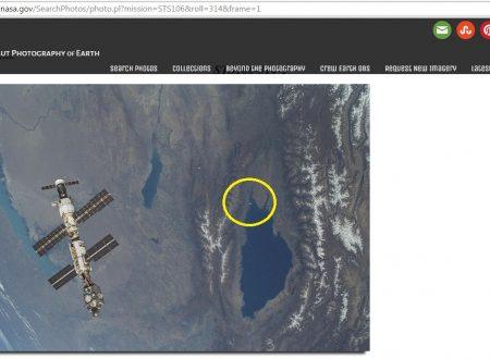 UFO lago Yssykol – le foto dallo Shuttle
