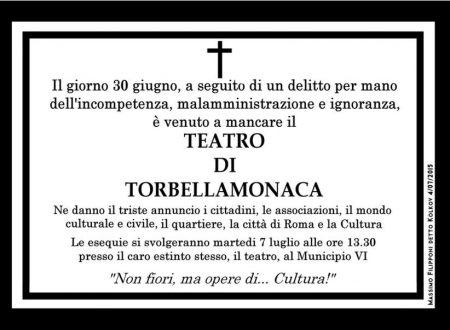Teatro Tor Bella Monaca – Un lutto dimenticato