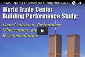 FEMA Report – 11 Settembre #ComplottistiDoveSiete